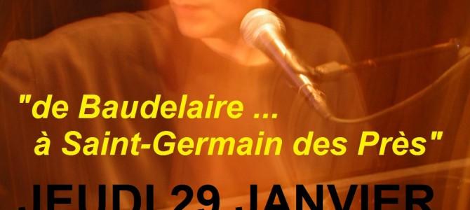 en concert JEUDI 29 JANVIER à PARIS 6e au «Selective Art Kfé», 9 rue Dauphine